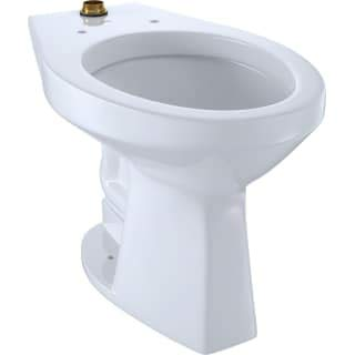 - TOTO CT705ULNG#01 White-CT705ULNG Elongated 1.0 GPF Floor-Mounted Flushometer ADA Compliant Toilet Bowl with Top Spud and CeFiONtect Cotton White