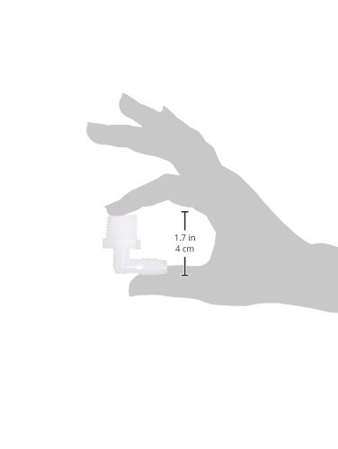 Parker Hannifin 329HB-6-8N-pk10 Par-Barb Male Elbow Fitting, Nylon, 90 Degree Angle, 3/8'' Hose Barb x 1/2'' Male NPT, White (Pack of 10) by Parker Hannifin (Image #3)