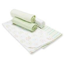 Gerber 5-pack Flannel Receiving Blankets - ()
