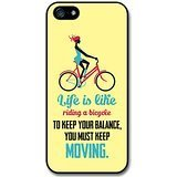 a Bicycle Albert Einstein Life & Love Inspirational Quote case for iPhone 5 5S ()