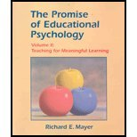 Promise of Educational Psychology, Volume 2 - Teaching for Meaningful Learning (02) by Mayer, Richard E [Paperback (2001)]