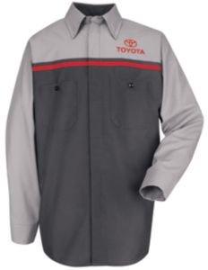 Red Kap Toyota Technician Shirt, Toyota, LNXL SP14TTLNXL
