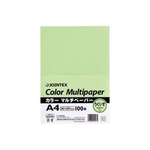 (業務用100セット) ジョインテックス カラーペーパー/コピー用紙 マルチタイプ 【A4】 100枚入り 鴬 A180J-2 ×100セット ds-1740715 B01MF9PMQK