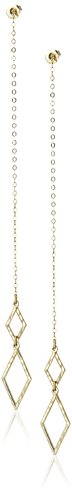 10k Yellow Gold Double Marquise Drop Earrings