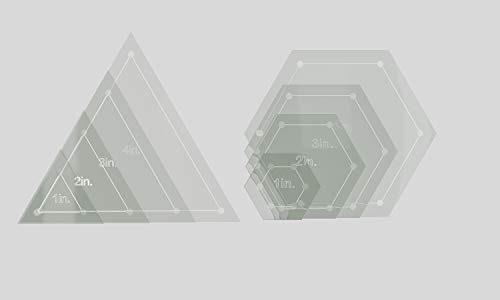 Hexagon & Triangle Quilting Template Set 4
