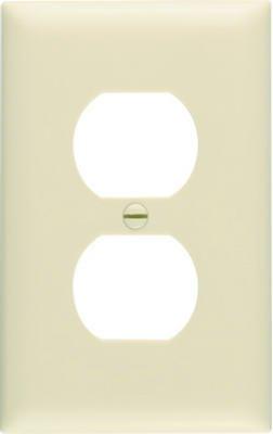 Pass & Seymour SPO8IU Ivory 1-Duplex Oversize Wall Plate - Quantity 20