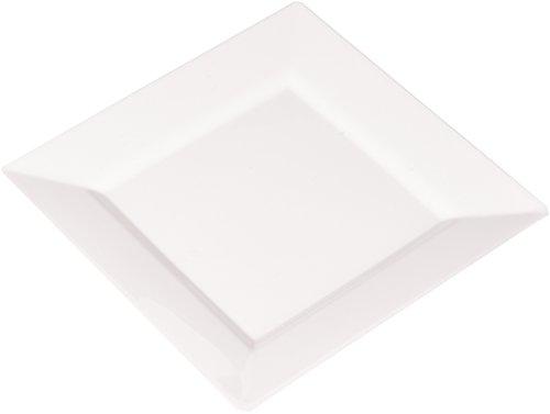 (EMI Yoshi Koyal Square Salad Plates, 8-Inch, White, 10 plates per pack)