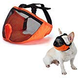 - Dog Muzzle for Barking for Short Snout Pitbulls Dog Anti Biting Chewing Eating (Orange)