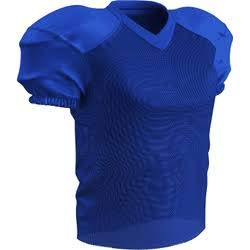 Jersey Blue Football - CHAMPRO Adult Stretch Polyester Practice Football Jersey, Royal, X-Large