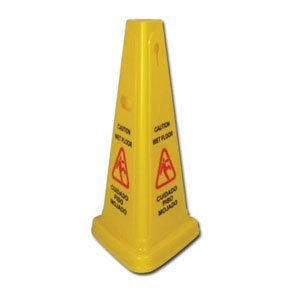 Winco WCS-27T 3 Sided Pyramid Wet Floor Caution Sign