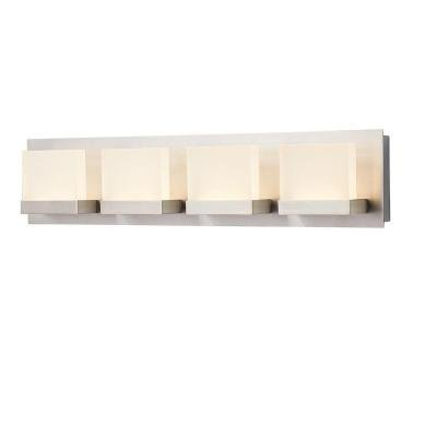 Brushed Nickel Decorator (Alberson Collection 4-Light Brushed Nickel LED Bath Bar Light)