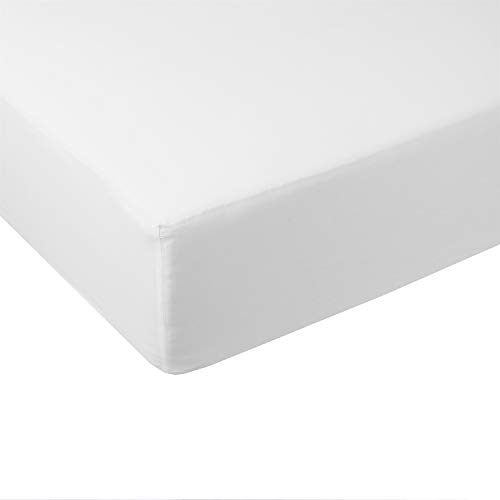 Abripedic Solid 600-Thread-Count, 100-Percent Bamboo Viscose, Super Soft and Cool Queen Size Fitted Sheet,White