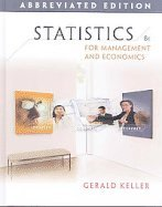 Statistics for Management & Economics, Abbreviated Edition (8th, 09) by Keller, Gerald [Hardcover (2008)]