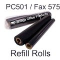 Compatible Brother PC-502RF PC502RF Thermal Fax Ribbon Refill Rolls (2pk) for Brother Fax 575