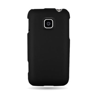CoverON(™) Hard Snap-on Shield BLACK RUBBERIZED Faceplate Cover Sleeve Case for LG AS680 OPTIMUS 2 (ALLTELL) with TRI Removal Tool Case [WCG91]