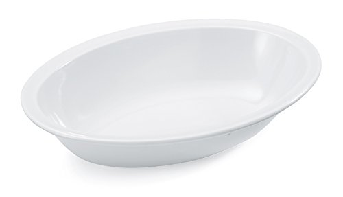(G.E.T. Enterprises DN-332-W-EC 32 oz. Oval Rimmed Melamine Bowls Melamine, White (Pack of 4))