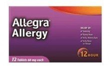 Allegra Adult 60Mg 12 Hour tablets 12-Count (Pack of 6) by Allegra