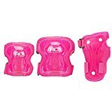 Zoom Childrens Protective Skating Pads From Roller Derby - Knee, Wrist, and Elbow (pink) (Roller Derby Gear Protective)