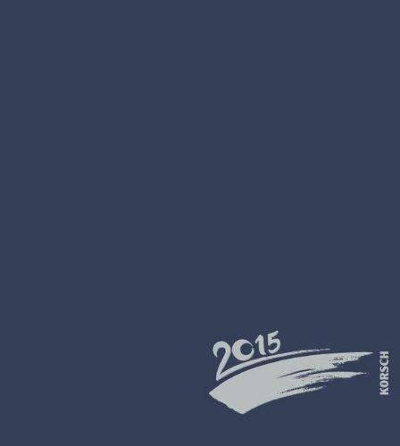 Foto-Malen-Basteln dunkelblau mit Folienprägung 2015: Kalender zum Selbstgestalten