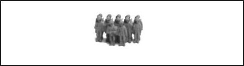 WWII Micro Armour - United States - Landing Craft US Army Rifle Company