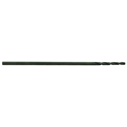 Precision Twist 1290 High Speed Steel Extra Long Length Drill Bit, Uncoated (Bright) Finish, Round Shank, Spiral Flute, 118 Degree Point Angle, 11/32''