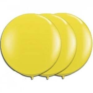 36 Inch Giant Round yellow Latex Balloons by TUFTEX (Premium Helium Quality) Pkg/3 for $<!--$9.50-->