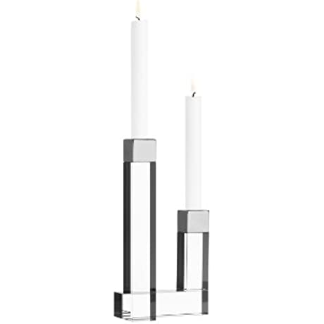 Orrefors 2 Arm Chimney Candleholder