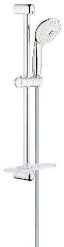 GROHE 28436002 Tempesta Classic 2.5 GPM 24'' 4-Spray Shower Rail Set, Starlight Chrome by GROHE