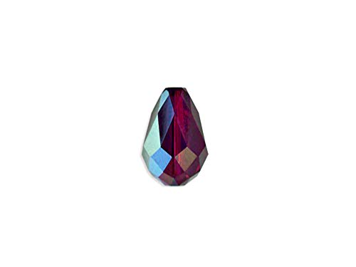 Swarovski Crystal 5500 Faceted Teardrop Beads 9x6mm, Amethyst AB, Wholesale Packs | Pack of 12