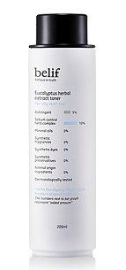 KOREAN COSMETICS, LG Household & Health Care_ belif, Eucalyptus Herbal Extract Toner (200ml, For Oily Skin, improve skin damage, moisture, skin protection)[001KR]