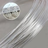 Metallic Cable Fashioning Jewellery - 40inch Sterling Silver Wire Diy Design Handmade Jewelry Tool Accessory Bracelet - Telegraph Devising Silvery Telegram Grey Bright Facile - 1PCs ()