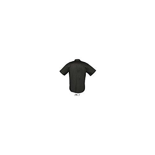 SOL´S - Herren Oxford-Kurzarmhemd Brisbane XXL,Black