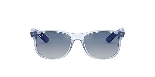 Ray-Ban Junior Kid's RJ9062S Rectangular Kids Sunglasses, Transparent Light Blue/Blue Red Gradient Mirror, 48 mm (Kids Sunglasses Mirror)