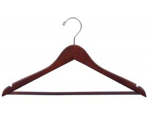 The Great American Hanger Company 200122-050 Wooden Suit Hangers, Walnut Finish, Box of 50