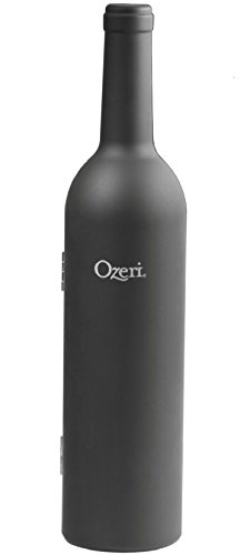 Ozeri OW06A 5 Piece Wine Bottle Corkscrew & Accessory Gift Set, Black