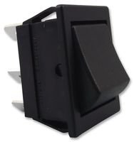 SWITCH, ROCKER, DPDT, BLACK, (ON)-ON C1561ALAAA By ARCOLECTRIC C1561ALAAA-ARCOLECTRIC