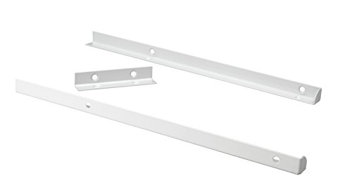 ClosetMaid 4879 SuiteSymphony Top Shelf Support Kit, Pure White ()