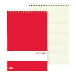 Office Depot Steno Books, 6in. x 9in, Gregg Ruled, 70 Sheets, Greentint, Pack Of 12, 99470 by Office Depot