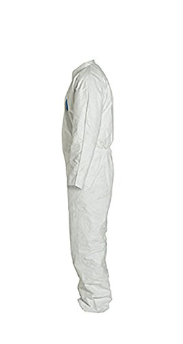 DuPont Tyvek 400 TY120S Disposable Protective Coverall, White, 4X-Large (Pack of 6) by DuPont (Image #3)