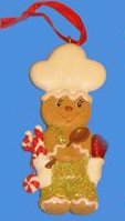 Kurt Adler Gingerbread Kisses Cookie Boy with Chef Hat Christmas Ornament -