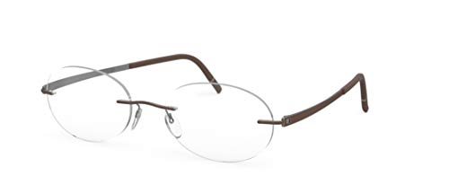 Silhouette eyeglasses Momentum color size very W/DEMO lens (ruthenium/cohiba brown 52mm-19mm-145mm)