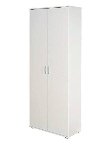 Links 13500100 Schrank Aktenschrank weiß Büroschrank Büro Mehrzweckschrank 2-türig 5 Böden NEU