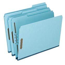 Pendaflex Heavy-Duty Pressboard Folders with Embossed Fasteners, Letter Size, 100% Recycled, Blue, Pack of 25 by Pendaflex