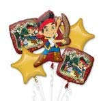 Anagram 27528 Jake And The Neverland Pirates Birthday Balloon Bouquet, Multicolored (Pirate Balloon Bouquet)