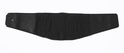 Phiten Titanium Lumbar Support, Light, Black, Medium
