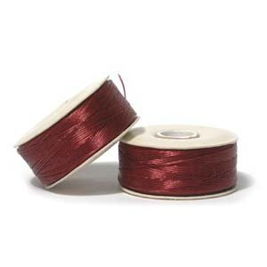 NYMO Nylon Beading Thread Size D for Delica Beads - Red 64 Yards (58 Meters)