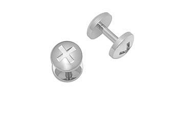 Mens Stainless Steel Cufflinks - Polished 'Urban' Stainless Steel Cufflinks - Mens Stainless Steel Cufflinks