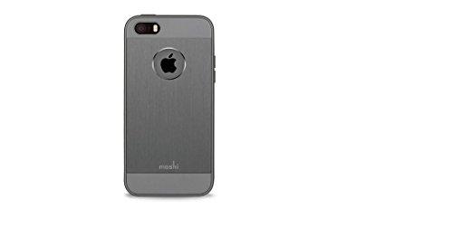 moshi 99MO061211 iGlaze Armour metallischer Schutzhülle für Apple iPhone5 / 5s / SE gunmetal grau