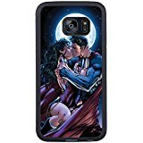 Mobile Collection Edge Womens (Superman And Wonder Woman Black Shell Phone Case Fit For Samsung Galaxy S7 Edge,Beautiful Cover)