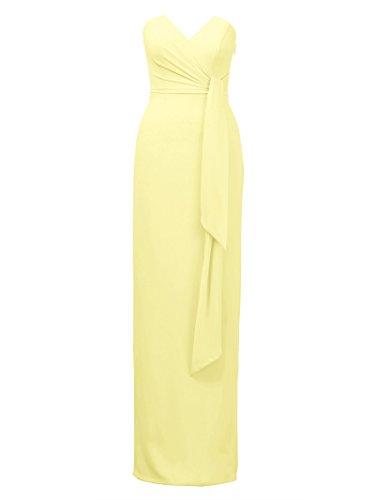 Bridesmaid Dress Dress Evening Back Alicepub Party Dresses Maxi Yellow Split Elegant 5qwxSExz